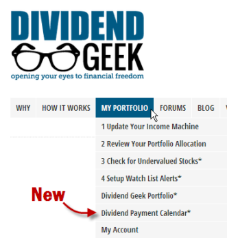 how to find out dividend payments